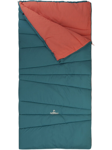 Nomad Melville Junior Sleeping Bag biscaya green/shell pink